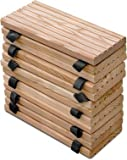 Weidenprofi Rollweg aus Lärchenholz, Lärche Holztritte für den Garten, Gartenweg - Größe (BxL): 35 x 250 cm