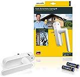 Schellenberg 46512 Fenstergriff mit Alarm, Balkontürgriff, Smart Home Funk-Alarmgriff - für mehr Sicherheit, laute Alarmfunktion, 32 - 43 mm Vierkantlänge - stufenlos einstellbar, Weiß