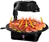 LY-ETC Elektrischer Teppanyaki-Tischgrill, 42 * 37 cm, Antihaft-Bratpfanne Mit Einstellbarer Temperatur, Grill-Kochplatte - Für Den Innen- Und Außenbereich
