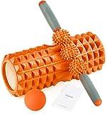 HBselect 3 in 1 Faszienrolle Set Wirbelsäule Foam Roller Massagerollen Duoball Massagestäbchen Massageball