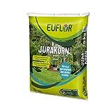 Euflor Jurakorn 20 kg Sack•Kohlensaurer Kalk 95 (95% Ca CO3)•Erhaltungskalkung von Gartenböden und Rasen•Setzt vorhandenen Nährstoffe frei•Feinkörnig, staubarm und sehr gut streufähig