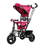 SONG Standardkinderwagen Zwei-Wege-Dreirad Kinderwagen 1-6 Jahre Altes Babyfahrrad Kinderfahrrad Geburtstagsgeschenk for Jungen Und Mädchen (Color : Red)