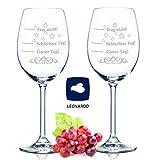 2x Leonardo XL Weinglas Schlechter Tag, Guter Tag - Frag nicht! - Geburtstagsgeschenk - Lustige Geschenke - Geeignet als Weißweingläser Rotweingläser - Originelles Geschenk - Weingläser