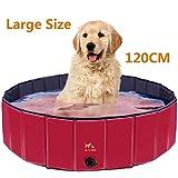 Zacro 120cm Hundepool Haustierpool Planschbecken Swimmingpool für die Haustier wie Hunde, Katzen, 120 * 30cm