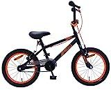 Amigo Danger - Kinderfahrrad für Jungen - 16 Zoll - mit Handbremsen und Lenkerpolster - BMX Fahrrad - ab 4-6 Jahre - Schwarz/orange