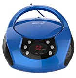 auvisio Kinderradio: Tragbarer Stereo-CD-Player mit Radio, Audio-Eingang & LED-Display (CD Player Kinder)