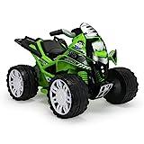 INJUSA – Quad The Beast Kawasaki 12V Empfohlen für Kinder +2 Jahre mit Gaspedal und Kunststoffräder mit Gummibänder