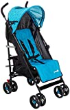 Safety 1st 1131820000 Buggy Rainbow, kompakter und wendiger Kinderwagen, mit mehrfach verstellbarer Rückenlehne und gepolstertem Sitz, Donuts Party, blau, 7020 g