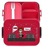 wolga-kreativ Brotdose Lunchbox Bento Box Kinder Held Superheld mit Namen Mepal Obsteinsatz für Mädchen Jungen personalisiert Brotbüchse Brotdosen Kindergarten Schule Schultüte füllen