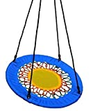 Izzy Nestschaukel rund, 117 cm, Mehrkindschaukel, Garten-Schaukel bis 150 kg belastbar, blau, Familienschaukel