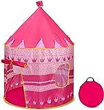 Ucradle Kinderspielzelt, Pink Princess Castle Kinderspielhaus für innen und draußen, Pop-up-Spielzelt mit Tragetasche Spiele, tolles Geschenk für Mädchen Kinder 3 4 5 Jahre alt - 40 'x 55' (DxH)