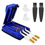 SNAGAROG Zigarettenstopfmaschine Zigaretten Tabakstopfer,Zigarettenstopfer mit 3 austauschbaren weissen Koffern und 2 kleinen Bürstentubenfüllmaschinen für die Zigarettenherstellung (blau)