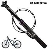 31,6/30,9 MM Fahrrad Aluminiumlegierung Sattelstütze, Höhenverstellbare Sattelstütze Shell Sattelstütze für Mountainbike
