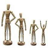 Artina Gliederpuppe Dali Größe 20 cm männliche Zeichenpuppe aus Holz Malhilfe zum Zeichnen Modellpuppe mit Gelenken