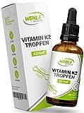 Vitamin K2 MK-7-200µg 1850 Tropfen, 50ml - Premium: K2VITAL® von Kappa - 99,7+% All-Trans - Laborgeprüft, vegan, hochdosiert, und hergestellt in DE.