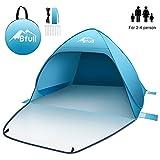 Bfull Strandmuschel mit Einer Abschließbaren Tür und UV 50 Sonnenschutz für 2-4 Personen Pop Up Strandzelt Extra Leicht Wurfzelt
