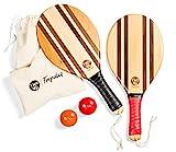 two46 | Premium Beachball Set Rio Classico | Frescobol - Der Trendsport aus Südamerika | Hochwertige, handgefertige Schläger aus Holz, individuelle Ballauswahl & passende Baumwolltasche (Rio Classico)