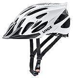 Uvex Unisex– Erwachsene Flash Radhelm, white black, 53-56