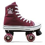Kingdom GB HI-PE Canvas Skaten Rollschuhe mit 4 Rollen Skates (kastanienbraun, 41 EU)