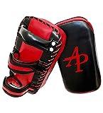 AP Training Kampfsport Training Kick Pratze, Sport Schlagschild, MMA Schlagpolster, Thaipads, Pad (vorgekrümmt), Trainerpratzen