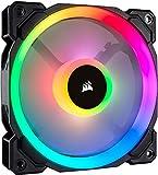 Corsair LL120 RGB LED PWM PC-Gehäuselüfter (120mm Dual Licht Loop RGB LED, Einzelverpackung) schwarz