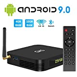 Android TV Box, GKG Android 9.0 TV Box 4GB RAM 32GB ROM Allwinner H6 Quad-Core Dual WiFi 2.4G + 5G Unterstützung BT 4.1 USB 3.0 Ethernet 4K 3D Android Box [2020 Neueste]