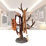 Cakunmik Kreativer Baumschmuckstand,Schmuckständerhalter Schmuckständer Harzschmuck Baum Organizer mit Ringablage für Halskette Home Decor Geschenk