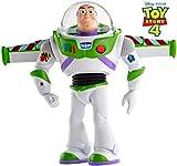 Mattel GGH45 - Toy Story 4 Super Action Buzz Lightyear Actionfigur, 17 cm, deutschsprachig, Spielzeug ab 3 Jahren