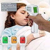 AQIN Berührungsloses IR-Infrarot-Thermometer Stirntemperaturmessung LCD DREI Farben Hintergrundbeleuchtung Digitalanzeige ℃ / ℉ Genauigkeit ± 0,2 ℃ (06)
