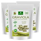 MoriVeda® Graviola Frucht-Extrakt Kapseln 360 x 1800mg – 100% natürlich I Graviola Kapseln, reich an Vitaminen & Antioxidantien I Graviola in erstklassiger Qualität I Vegan & Glutenfrei I 360 St.