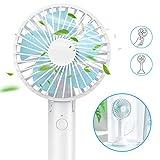 andobil Mini Fan Ventilator, Mini Fan Battery 2-1 Handventilator und Tischventilatoren, 3 Modus für Büro, Arbeitszimmer, Camping oder Reise usw. (blau)