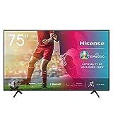 Hisense 75AE7000F 190 cm (75 Zoll) Fernseher (4K Ultra HD, HDR, Triple Tuner DVB-C/S/S2/T/T2, Smart-TV, Frameless, Bluetooth, Alexa, verstellbare Standfüße)
