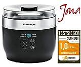 ROMMELSBACHER Joghurt- und Frischkäsebereiter JG 80 'Jona', inkl. 4 Keramik Portionsbecher à 125 ml, 2 XXL Glasbehälter à 1,2 Liter, 4 voreingestellte Programme mit unterschiedlichen Temperaturen