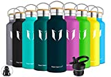 Super Sparrow Trinkflasche Edelstahl Wasserflasche - 750ml - Standardmund Isolierflasche mit Perfekte Thermosflasche für das Laufen, Fitness, Yoga, Im Freien und Camping | BPA FREI