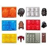eighteen-u Star Krieg geformte Form, Set von 6 flexible Silikon-Formen für Kuchendekoration Star Wars Liebhaber Roboter Birthday Candy Formen Schokolade Formen