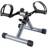 FITODO Heimtrainer Pedaltrainer für Arm- und Beintrainer Heim- und Büro-Übungsleiter(Silber Grau)