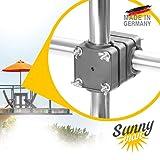 Sonnenschirmhalter Balkongeländer - Sunnyman, der Solide - Platzsparender Balkon Schirmhalter für Sonnenschirme mit Schirmstock Ø 28-45mm - Made in Germany