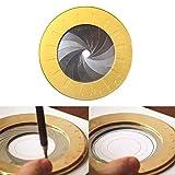 TOMATION Flexibles Kreisschablonen Aluminiumlegierung Schablone Zeichenschablone Lineal Geometrische Kreisschablone für die Holzbearbeitung für Enthusiasten der Holzbearbeitung