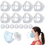 3D-Maskenhalterung, schützt Lippenstift, Lippen, interner Halter, Rahmen für Nase und Atmung, 15 Stück