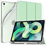 TiMOVO Hülle für mit iPad Air 4. Generation 10.9 Zoll 2020, TPU Schutzhülle Transluzenter Rückendeckel Magnetisch Faltbar Hülle mit Stiftschlitz Auto Schlaf/Aufwach, Grün