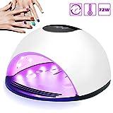 UV LED Nageltrockner, Nivlan Mehrweg 72W Lampe für Gelnägel, Professionelles Nagellampe mit 4 Timer Einstellungen, Auto-Sensor Nagelwerkzeuge für Fingernagel und Zehennagel