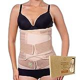 3 in 1 postpartale Bauch Unterstützung Erholung Wrap - Bauch Band Gürtel für postnatale, Mutterschaft - Gürtel für Frauen Body Shaper - Tummy Bandit Taille Shapewear (Classic Ivory, One Size)
