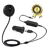 Besign Bluetooth 4.1 Freisprecheinrichtung, Freisprechanlage, Bluetooth Empfänger für KFZ Auto Lautsprechersystem mit 3.5 mm Klinke (Schwarz mit Noise Isolator)