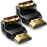 deleyCON HDMI 270° Winkeladapter 2 Stück im Set - HDMI Typ A Buchse und Stecker - 4K Ultra HD UHD 3D Full HD 1080p HDR ARC Highspeed mit Ethernet