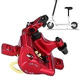 Alomejor Mini Scooter Heck Scheibenbremssatz Kabelbügel für Bremssattel Kissen zur Änderung der Scooter-Scheibenbremse