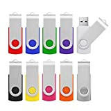 KOOTION USB Stick 16GB USB 2.0 Memory Stick 10 Stück USB-Sticks USB Flash Drives Speicherstick (10 Pack*16GB / Mehrfarbig)