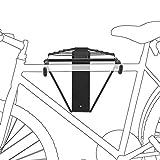 Relaxdays Fahrradhalterung für 1-2 Fahrräder, Fahrradhalter zur Wandmontage max. 50 kg, HxBxT 32 x 30 x 52 cm, schwarz