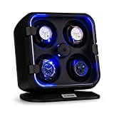 Klarstein Clover Uhrenbeweger für 4 Uhren mit zuschaltbarer LED-Beleuchtung schwarz