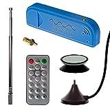 NESDR Mini 2+ 0.5PPM TCXO RTL-SDR und ADS-B USB Empfängersatz mit Antenne, Saughalterung, Weiblichem SMA-Adapter und Fernbedienung, RTL2832U und R820T2 Tuner. Low-Cost Software Defined Radio
