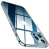 TORRAS Crystal Clear Hülle Kompatibel mit iPhone 12 Pro Max Durchsichtig Flexibles Silikon Handyhülle Transparent